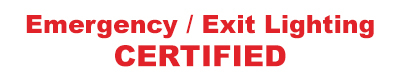 Emergency Exit Lighting Certified